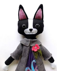 Isabelle the Boston Terrier  made by Ipamea