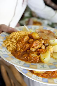 Gently spiced with cinnamon, 5-spice, cumin, turmeric and garlic, this exciting lamb and garbanzo bean stew is a hearty Libyan classic. Worl...