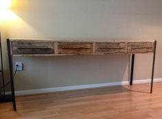 Media Console / TV Stand 81 metal and wood by Reclaimtofame1