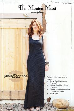The Mission Maxi sewing pattern - Jamie Christina sewing pattern. $14.95, via Etsy.