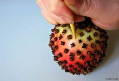 apple clove pomander 7
