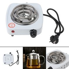 Power: 1 x Mini stove with cable. Cooking Appliances, Kitchen Appliances, Mini Stove, Electric Stove, Cool Kitchens, Plates, Tea, Coffee, Kaffee