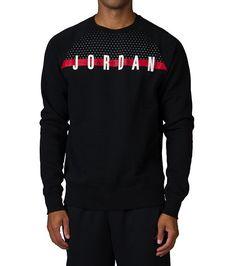 36d0fc0ceac8 JORDAN Crew neck with ribbed collar Long sleeves AIR JORDAN logo Ribbed  cuffs and hem Cotton