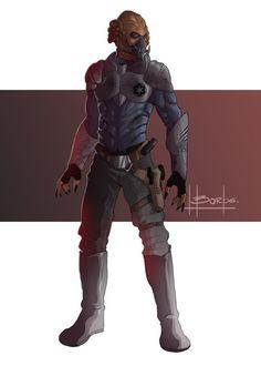 Khan the Kel Dor soldier by ~FelipeBorbs on deviantART