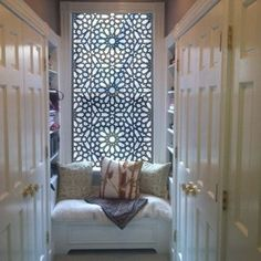 Using metal decorative panels for windows for light but privacy