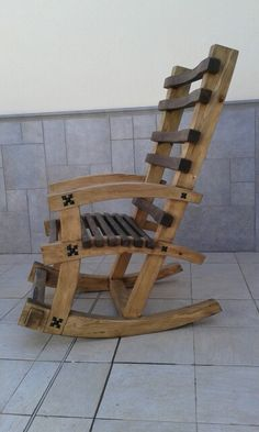 Wood Pallet Furniture, Primitive Furniture, Rustic Furniture, Diy Furniture, Furniture Design, Woodworking Ideas Table, Woodworking Business Ideas, Rocking Chair Plans, Rocking Chair Porch