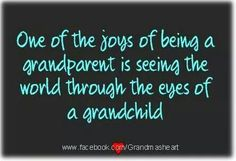 Seeing the world through a grandchild's eyes ...
