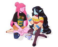Cute Couple Art, Cute Couple Pictures, Cute Couples, Bubbline, Marceline And Princess Bubblegum, Nostalgia Art, Lesbian Art, Adventure Time Anime, Character Development