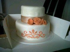 Wedding cake, with stencil...