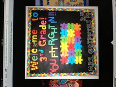 Bulletin board for beginning of the year in advisory...