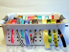 Good ribbon organization idea!