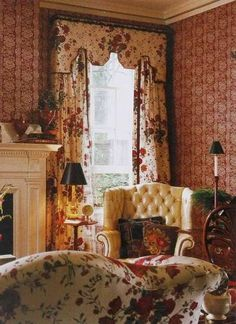 Curtains---English interior - source unknown