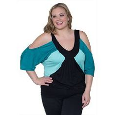 Sealed With A Kiss Designs Plus Size Molly Color Block Top