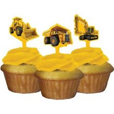 Amazon.com: Construction Zone Party Pick Cupcake Decorations (12 ct): Toys & Games