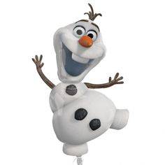 this is olaf from frozen . Frozen is a very famous movie and so is olaf he is very funny and kind, helpful Disney Frozen Olaf, Disney Frozen Party, Olaf From Frozen, Frozen Cartoon, Olaf Birthday, Frozen Birthday Party, Balloon Birthday, Balloon Party, Carnival Birthday