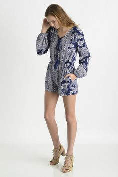 Dance & Marvel Floral Engineered Romper | South Moon Under