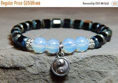 Verkauf-Yin-Yang-Armband, Yin-Yang-Charme, Balance Armband, schwarz / weiß Armband, Yin Yang Schmuck Perlen Yin-Yang-Armband, Yinyang Brac