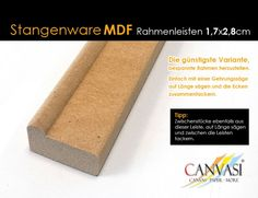 Rahmenleiste MDF 17 x 28 - Leistenlänge: 2,62 Meter Wedges, Frame, Simple, Tips