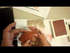 stampin up, Thank You, Ombre Card with Touches of Texture, Esther from Stampin Star Creations - YouTube