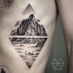 Landscape Tattoo by Monkey Bob