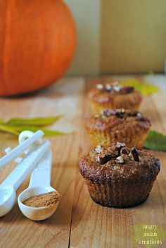 Week 38: Butternut Squash + Almond Muffins with Toasted Walnuts by Angry Asian Creations