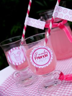 Pink Party Printables in honor of Breast Cancer Awareness Month!!