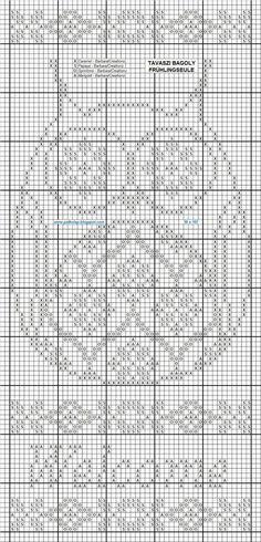 x cross stitch owl Caramel - DMC 758 Papaya Springtime - DMC 581, 472 Marigold