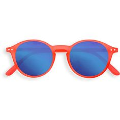 """See concept - """"d"""" orange safran mirror sunglasses (171.980 COP) ❤ liked on Polyvore featuring accessories, eyewear, sunglasses, mirror sunglasses, mirrored sunglasses, orange sunglasses, reading glasses sunglasses and orange glasses"""