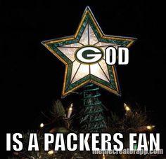 God is a Packers Fan!