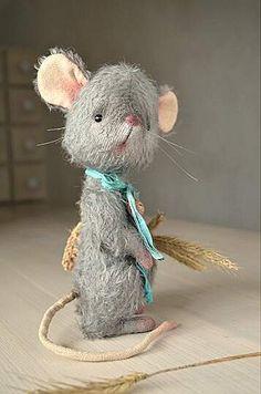 Teddy bear stile mouse By SanaTeddyBears - Bear Pile