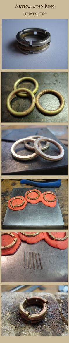 Articulated ring: step by step by Vassilius.deviantart.com on @deviantART - Tutorial: anello in tre parti