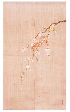 JUN Gifts offers wide variety of quality handmade Japanese noren curtains. This noren features hand drawn sakura cherry blossom. Japanese Textiles, Japanese Art, Japanese Culture, Cherry Flower, Cherry Blossom, Shibori, Noren Curtains, Japanese Interior, Pretty Pastel