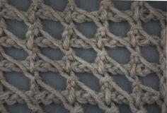 Tunisian Crochet: Tunisian Chain Lace.