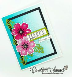 Care Bear Stamps: Stampin' Up! Pretty Perennials Bundle - #TGIFC300 Paper Art, Paper Crafts, Homemade Birthday Cards, Stampin Up Cards, I Card, Perennials, Card Making, Happy Birthday, Cards