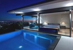 Hopen Place, design  by studio Whipple Russell Architects in Hollywood Hills, California