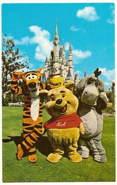 Tigger, Pooh and Eeyore from Winnie the Pooh.