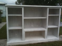 Upcycled pine TV Cabinet to bookshelf/display cabinet. Two days to restore.