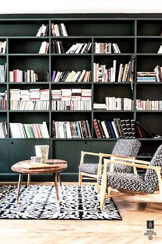 69 trendy home library bookcases My Living Room, Home And Living, Living Spaces, Home And Family, Room Interior, Interior Design, New Home Designs, Trendy Home, Living Room Inspiration