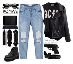 """""""#AC/DC - Thunderstruck"""" by credentovideos ❤ liked on Polyvore featuring Topshop, UNIF, ZAGG and Le Métier de Beauté"""