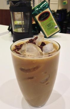 Vega's Iced Vanilla Coffee    1 cup fair-trade organic coffee (cooled)  ¼ cup non-dairy milk  1 scoop Vega Sport Protein Vanilla   1 cup ice.    Mix coffee, non-dairy milk, vanilla protein and ice. *We also sprinkled some Vega Maca on top for added decadence.   Shake and enjoy.