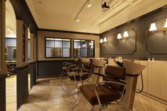 Beauty salon interior design ideas |  + chairs + mirrors + space + decor + Japan + designs  + white | Follow us on https://www.facebook.com/TracksGroup <<<【hikute シャンプーエリア】 美容室 内装