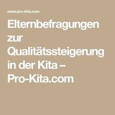 Elternbefragungen zur Qualitätssteigerung in der Kita – Pro-Kita.com