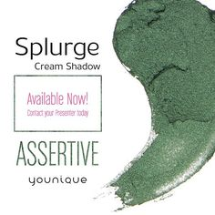 Meet Assertive 1 of 3 new Splurge Cream Shadow colors!  Get FREE liquid eyeliner when you buy 3 cream shadows this month (link in bio)  Tag a friend who'd rock Assertive!