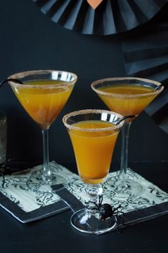 Pumpkin Champagne Cocktail