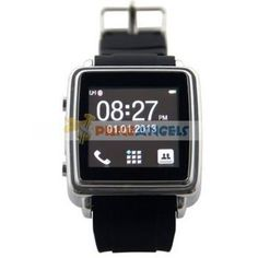 Smart Bluetooth Watch Sync Anti-lost for Iphone Mobile Phone Smartphone(Black)