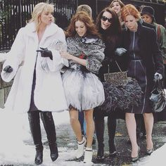 """""""Every year the women of New York leave the past behind and look forward to the future...this is known as Fashion Week."""" -Carrie Bradshaw"""