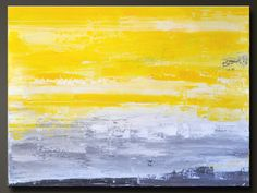 30 x 40 - Abstract Acrylic Painting - Huge Contemporary Wall Art - Original Yellow Gray