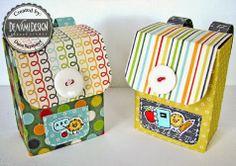 turn a raisin box into a little backpack