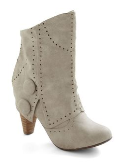 Know When to Fold 'Em Boot in Ivory, #ModCloth