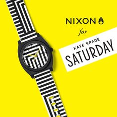 #Nixon: Uncommonly Cool. Introducing The Nixon for Kate Spade Saturday Time Teller P, now available in four color options and for a limited time only from Nixon & Kate Spade Saturday.